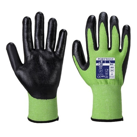 Rękawice antyprzecięciowe Green kat.5 A645 Portwest