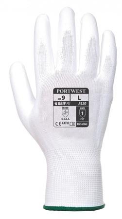 Rękawice bezszwowe do prac precyzyjnych Portwest A120 PU