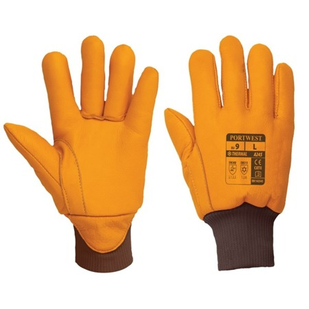Rękawice robocze zimowe ocieplane skórzane Thinsulate A245 Portwest